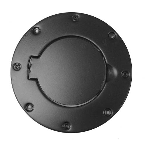 Rugged Ridge - Non-Locking Gas Cap Door, Black; 97-06 Jeep Wrangler TJ