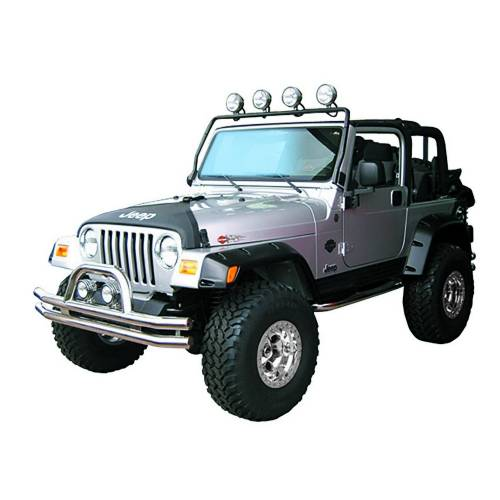 Rugged Ridge - Full Frame Light Bar, Black; 97-06 Jeep Wrangler TJ