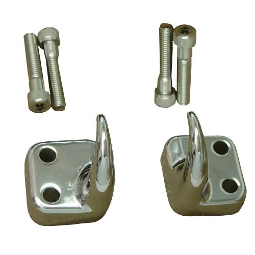 Rugged Ridge - Front Tow Hooks, Chrome; 97-06 Jeep Wrangler TJ