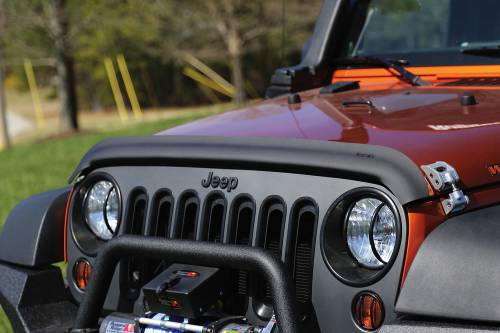 Rugged Ridge - Rugged Ridge Bug Deflector, Matte Black (2007-15) Jeep Wrangler JK
