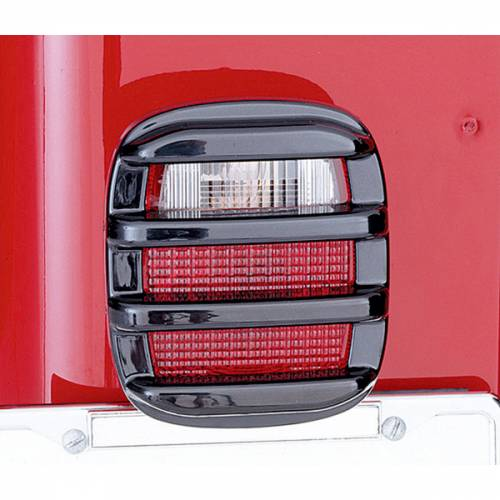Rugged Ridge - Rugged Ridge Tail Light Guards, Smoke (1976-06) Jeep CJ/Wrangler YJ/TJ