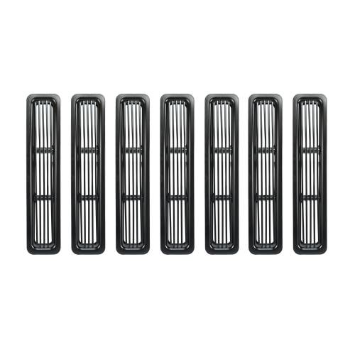 Rugged Ridge - Rugged Ridge Billet Grille Inserts, Black (1997-06) Jeep Wrangler TJ