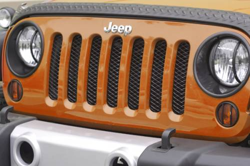 Rugged Ridge - Mesh Grille Insert, Black; 07-15 Jeep Wrangler JK