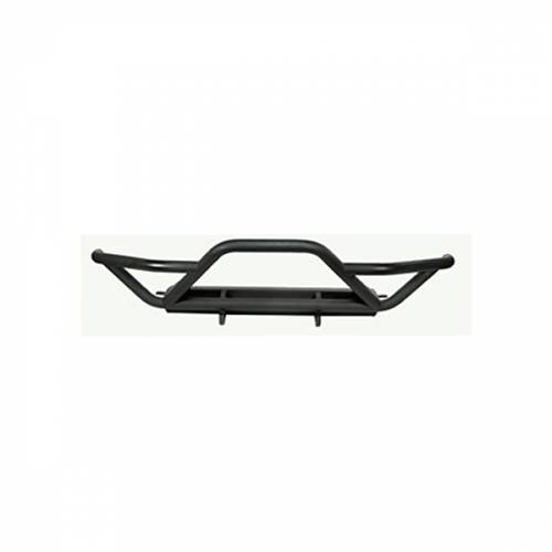 Rugged Ridge - RRC Front Bumper with Grille Guard, Black; 87-06 Jeep Wrangler YJ/TJ