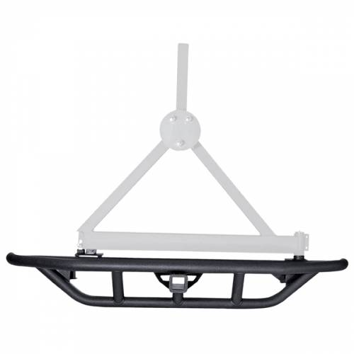 Rugged Ridge - RRC Rear Bumper, Tire Carrier Provision; 87-06 Jeep Wrangler YJ/TJ