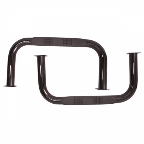 Rugged Ridge - Nerf Bars, Black; 55-75 Jeep CJ5
