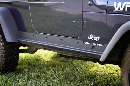 Rugged Ridge - Heavy Duty Side Rocker Guards; 04-06 Jeep Wrangler Unlimited LJ