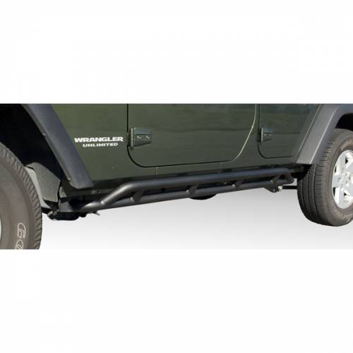 Rugged Ridge - RRC Rocker Guards, Black; 07-15 Jeep Wrangler Unlimited JK