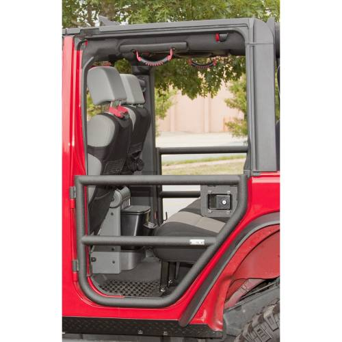 Rugged Ridge - Rear Tube Doors, Textured Black; 07-15 Jeep Wrangler Unlimited JK