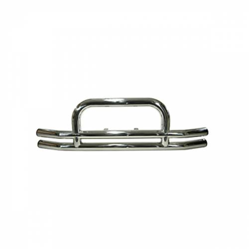 Rugged Ridge - Rugged Ridge Tube Front Bumper, 3 Inch, Stainless Steel (1955-06) Jeep Models