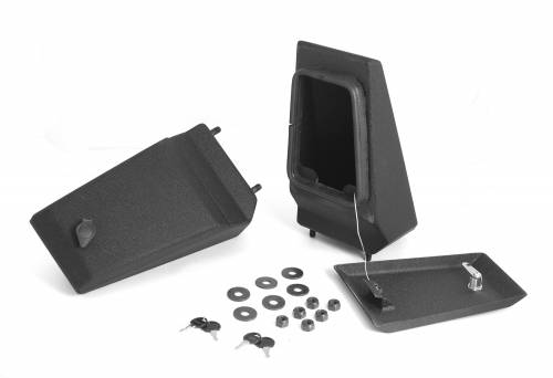 Rugged Ridge - Rugged Ridge XHD Bumper Storage Ends, Textured Black (1976-06) Jeep CJ/Wrangler YJ/TJ