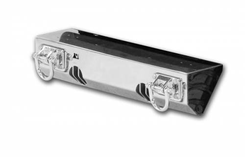 Rugged Ridge - Rugged Ridge XHD Light Mount Front Bumper, Stainless Steel (2007-15) Jeep Wrangler JK