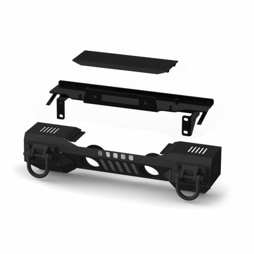 Rugged Ridge - Rugged Ridge XHD Aluminum Front Bumper, Winch Mount (2007-15) Jeep Wrangler JK