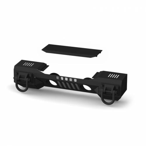 Rugged Ridge - Rugged Ridge XHD Aluminum Front Bumper, Non-Winch Mount