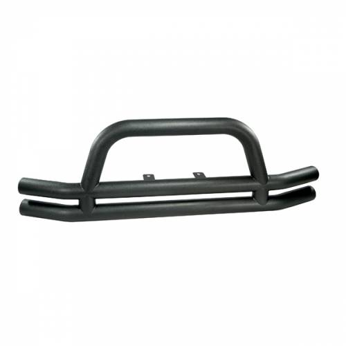 Rugged Ridge - Rugged Ridge Double Tube Front Bumper, 3 Inch, Black (1976-06) Jeep CJ/Wrangler YJ/TJ