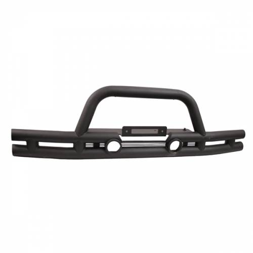 Rugged Ridge - Rugged Ridge Double Tube Front Winch Bumper, 3 Inch (2007-15) Jeep Wrangler JK