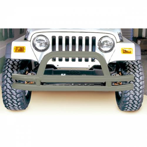 Rugged Ridge - Rugged Ridge Double Tube Front Bumper, 3 Inch, Titanium (1976-06) CJ/Wrangler YJ/TJ