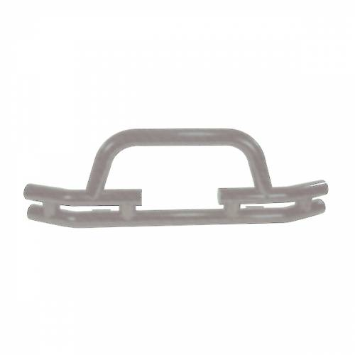 Rugged Ridge - Rugged Ridge Tube Front Winch Bumper, 3 Inch, Titanium (1976-06) CJ/Wrangler YJ/TJ