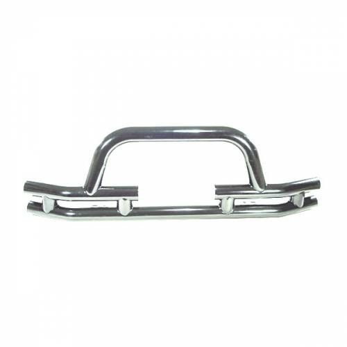 Rugged Ridge - Rugged Ridge Tube Front Winch Bumper, 3 Inch, Stainless Steel (1976-06) Jeep Models