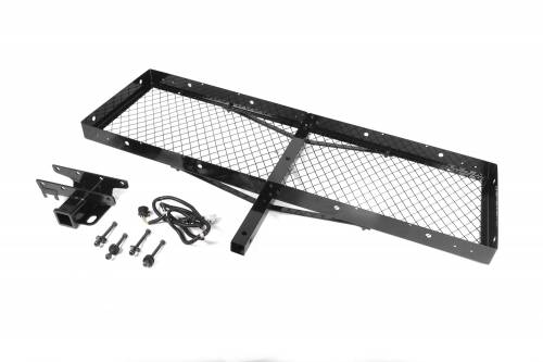 Rugged Ridge - Receiver Hitch with Cargo Rack; 87-06 Jeep Wrangler YJ/TJ