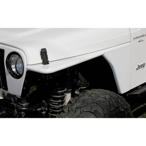 Rugged Ridge - RRC Tubular Steel Flat Fender Kit; 97-06 Jeep Wrangler TJ