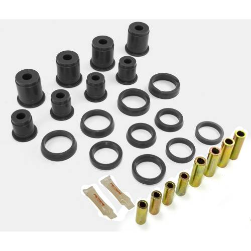 Rugged Ridge - Front Control Arm Bushing Kit, Black; 84-01 Jeep Cherokee XJ