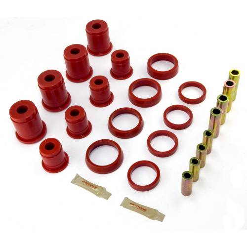 Rugged Ridge - Rugged Ridge Control Arm Bushing Kit, Front, Red (1993-98) Jeep Grand Cherokee ZJ