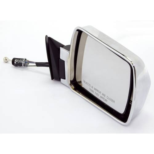 Omix-ADA - Right Chrome Mirror; 84-96 Jeep Cherokee XJ