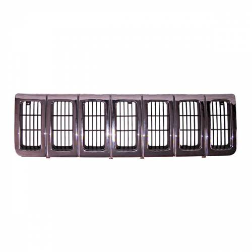 Omix-ADA - Chrome Grille Insert; 96-98 Jeep Grand Cherokee ZJ