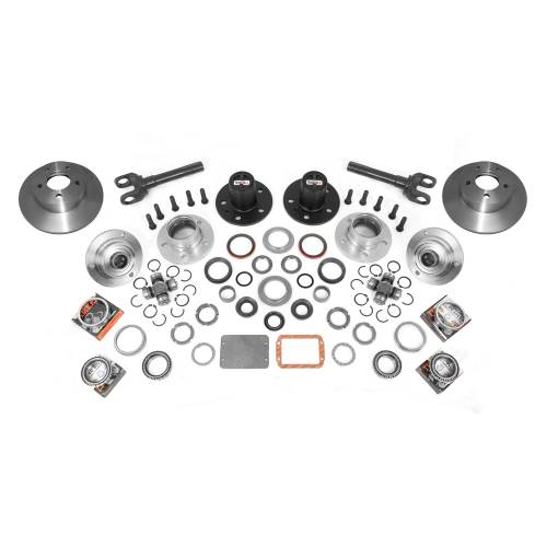 Alloy USA - Manual Locking Hub Conver Kit; 92-06 Jeep Cherokee/Wrangler XJ/YJ