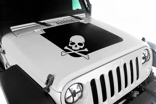 Rugged Ridge - Hood Decal, Skull; 07-15 Jeep Wrangler JK