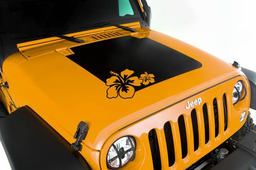 Rugged Ridge - Hood Decal, Hibiscus; 07-15 Jeep Wrangler JK