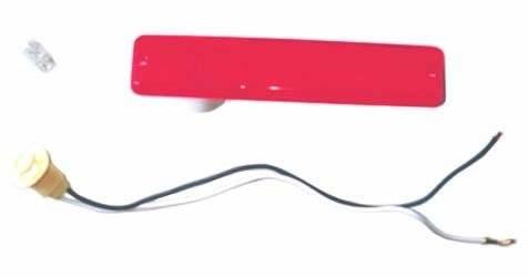 Omix-ADA - Lens Rear Side Marker Red; 72-86 Jeep CJ Models
