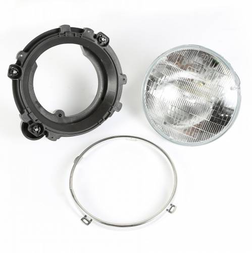 Omix-ADA - Headlight Assy with Bulb LH; 97-06 Jeep Wrangler TJ