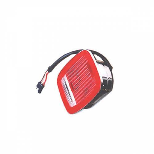Omix-ADA - Right Chrome Tail Lamp; 76-80 Jeep CJ Models
