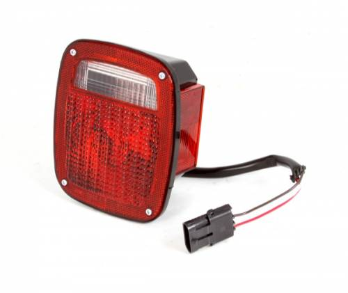 Omix-ADA - Right Hand Tail Light with Black Housing; 1987-1990 Wrangler YJ