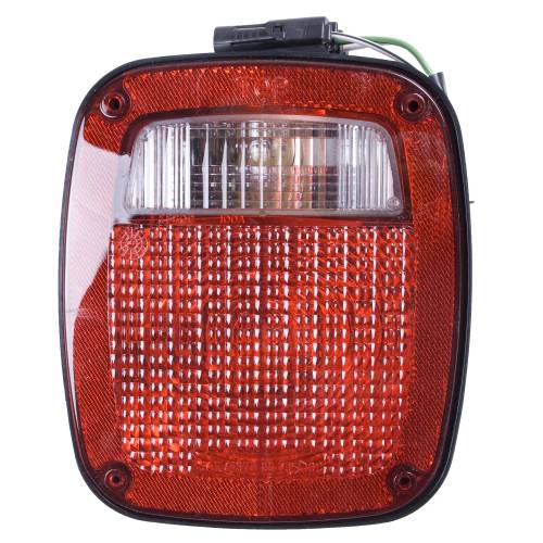 Omix-ADA - Left Black Tail Lamp; 91-97 Jeep YJ/TJ Wrangler