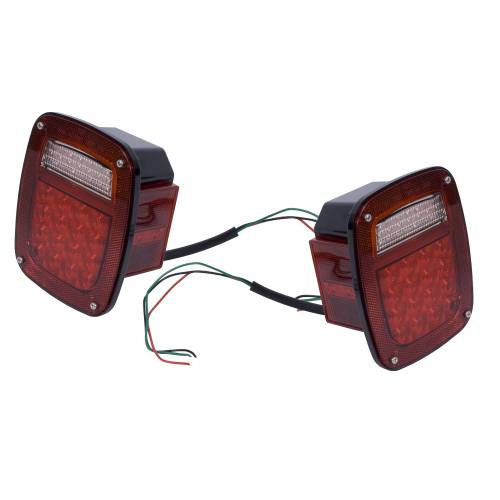Rugged Ridge - LED Tail Light Set; 76-06 Jeep CJ/Wrangler