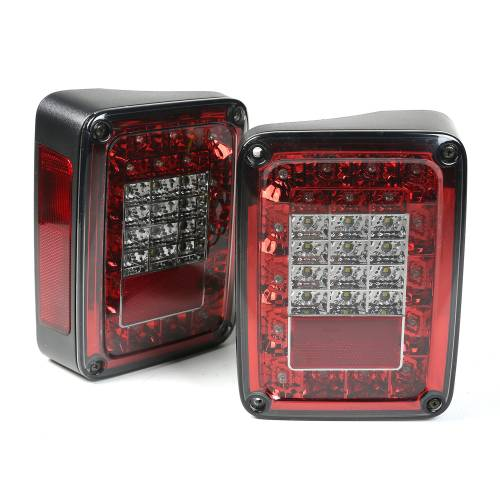 Rugged Ridge - LED Tail Light Set, Smoke; 07-15 Jeep Wrangler JK