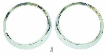 Rugged Ridge - Headlight Bezel Set, Chrome; 72-86 Jeep CJ Models
