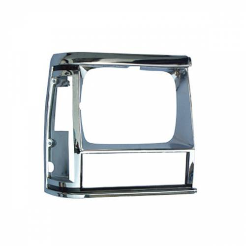 Omix-ADA - RH Chrome Headlight Bezel; 84-90 Jeep Cherokee XJ