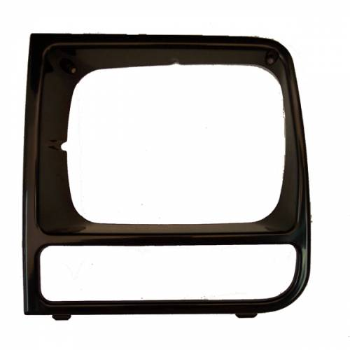 Omix-ADA - LH Black Headlight Bezel; 97-01 Jeep Cherokee XJ