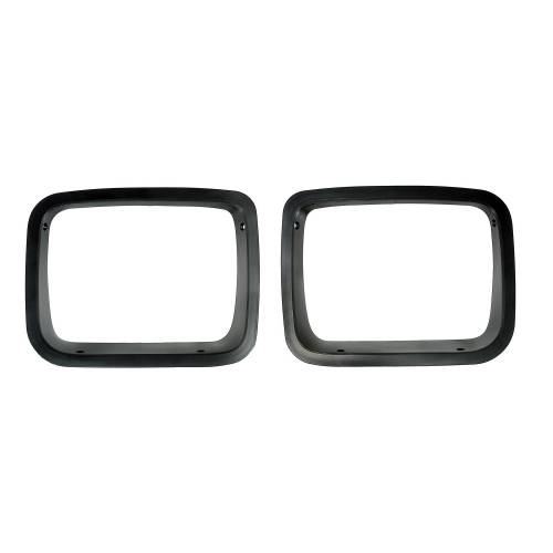 Rugged Ridge - Headlight Bezels, Black; 87-95 Jeep Wrangler YJ