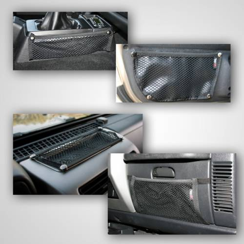 Rugged Ridge - Interior Mesh Storage Kit; 97-06 Jeep Wrangler TJ