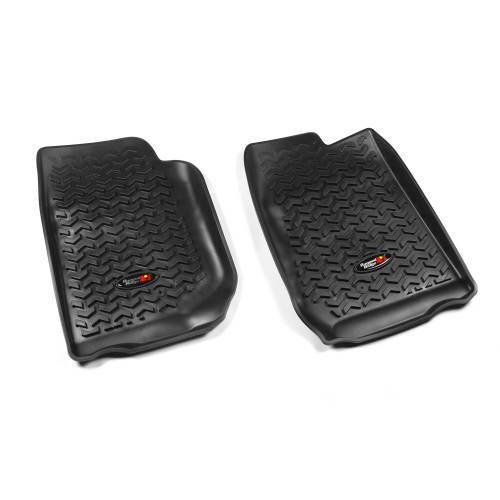 Rugged Ridge - Rugged Ridge Floor Liners, Front, Black (2007-15) Jeep Wrangler/Unlimited JK