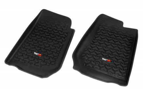 Rugged Ridge - Rugged Ridge Floor Liners, Front, Black (2007-15) Jeep Wrangler/Unlimited JK RHD