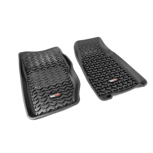 Rugged Ridge - Rugged Ridge Floor Liners, Front, Black (1984-01) Jeep Cherokee XJ