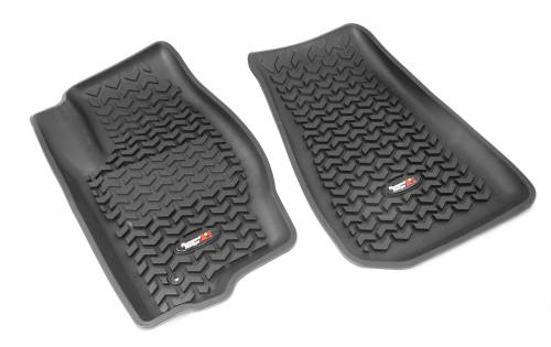 Rugged Ridge - Rugged Ridge Floor Liners, Front, Black (2006-09) Jeep Commander (2005-10) Grand Cherokee