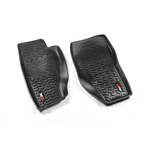 Rugged Ridge - Rugged Ridge Floor Liners, Front, Black (2008-12) Jeep Liberty KK