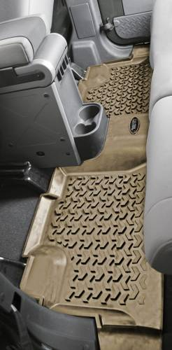 Rugged Ridge - Floor Liners, Rear, Black; 07-15 Jeep Wrangler Unlimited JK